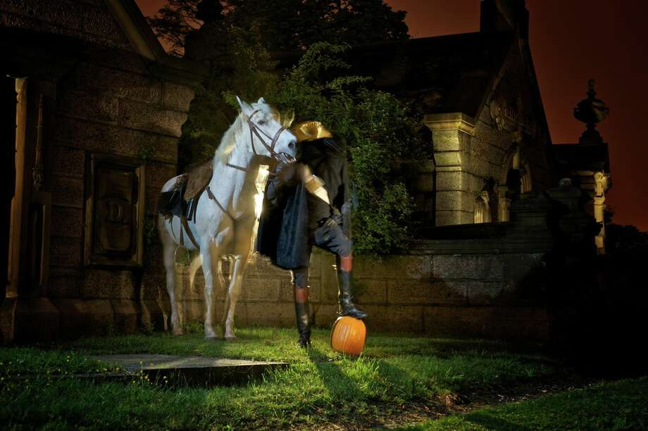 The Headless Horseman makes stops in Sleepy Hollow, NY each October. Photo courtesy Sleepy Hollow Cemetery Historic Fund. Photo: San Antonio Express-News