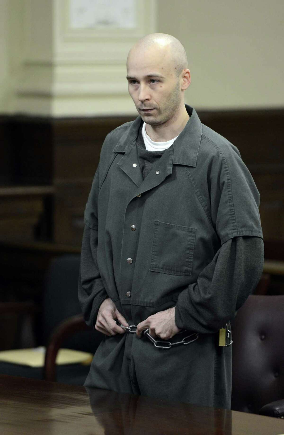 Robert Hayden was sentenced for killing a child he was babysitting. Hayden's sentence was imposed by Rensselaer County Judge Andrew Ceresia in the Rensselaer County Courthouse in Troy, N.Y. Oct 25, 2012. (Skip Dickstein/Times Union)