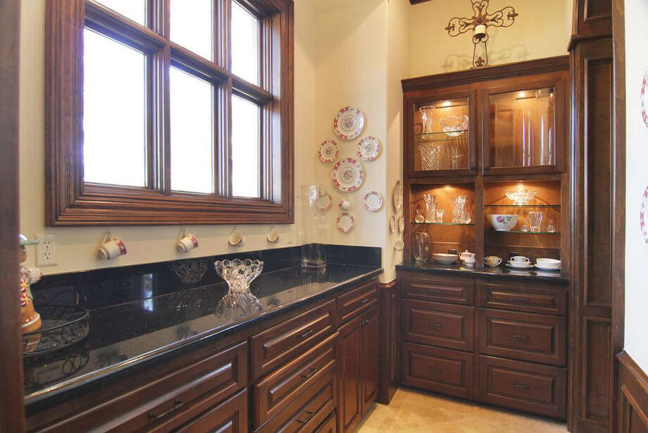 The walk-in pantry attached to the kitchen provides added storage. Photo: Better Homes And Gardens Real Estate