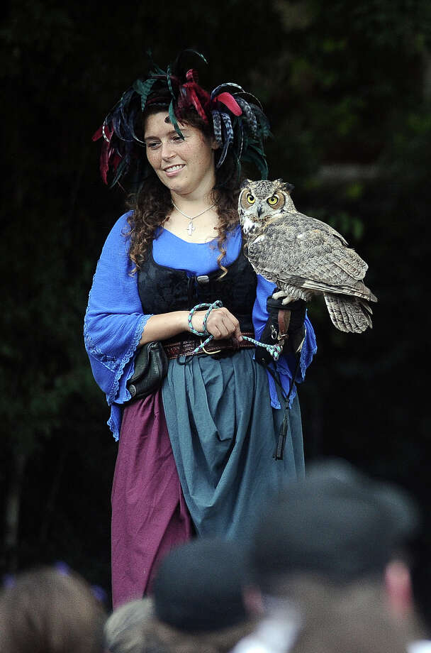 The Falconers Stage at the Texas Renaissance Festival in Plantersville, TX on Sunday, October 14, 2012.