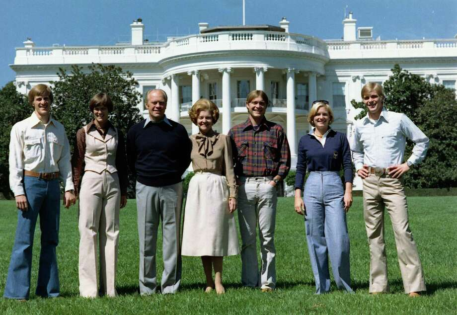 The Ford family on the White House lawn. Photo: Courtesy