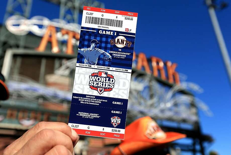 Need a ticket to the World Series? Ticket reseller StubHub gets a 25 percent cut of every ticket sold through its website. Photo: Doug Pensinger, Getty Images
