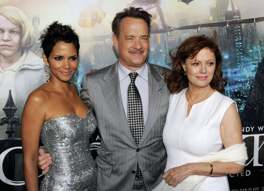"(L-R) Actors Halle Berry, Tom Hanks and Susan Sarandon arrive at Warner Bros. Pictures' ""Cloud Atlas"" premiere at Grauman's Chinese Theatre on October 24, 2012 in Hollywood, California. Photo: Kevin Winter, Getty Images / 2012 Getty Images"