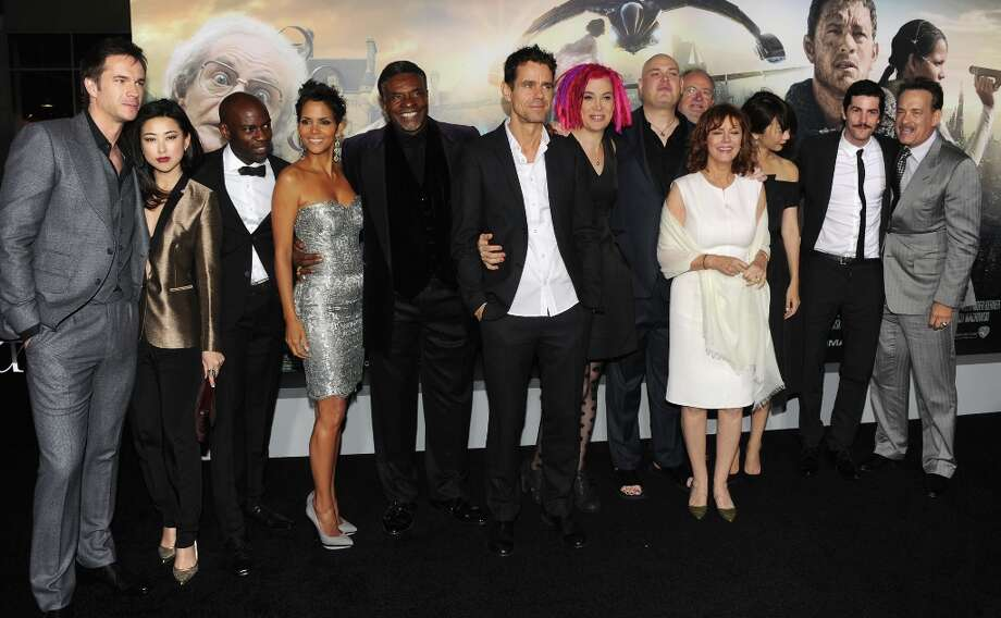 "(L-R) Actors James D'Arcy, Zhu Zhu, David Gyasi, Halle Berry, Keith David, Directors Tom Tykwer, Lana Wachowski, Andy Wachowski, Actors Jim Broadbent, Susan Sarandon, Doona Bae, Jim Sturgess and Tom Hanks arrive at Warner Bros. Pictures' ""Cloud Atlas"" premiere at Grauman's Chinese Theatre on October 24, 2012 in Hollywood, California. Photo: Kevin Winter, Getty Images / 2012 Getty Images"