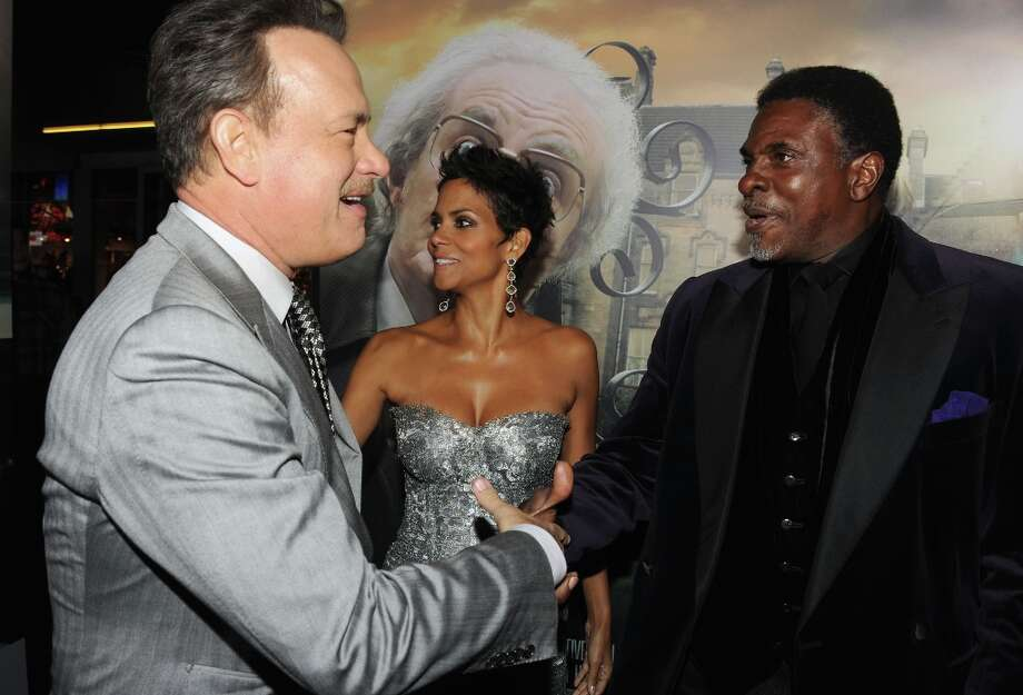 "(L-R) Actors Tom Hanks, Halle Berry and Keith David arrive at Warner Bros. Pictures' ""Cloud Atlas"" premiere at Grauman's Chinese Theatre on October 24, 2012 in Hollywood, California. Photo: Kevin Winter, Getty Images / 2012 Getty Images"