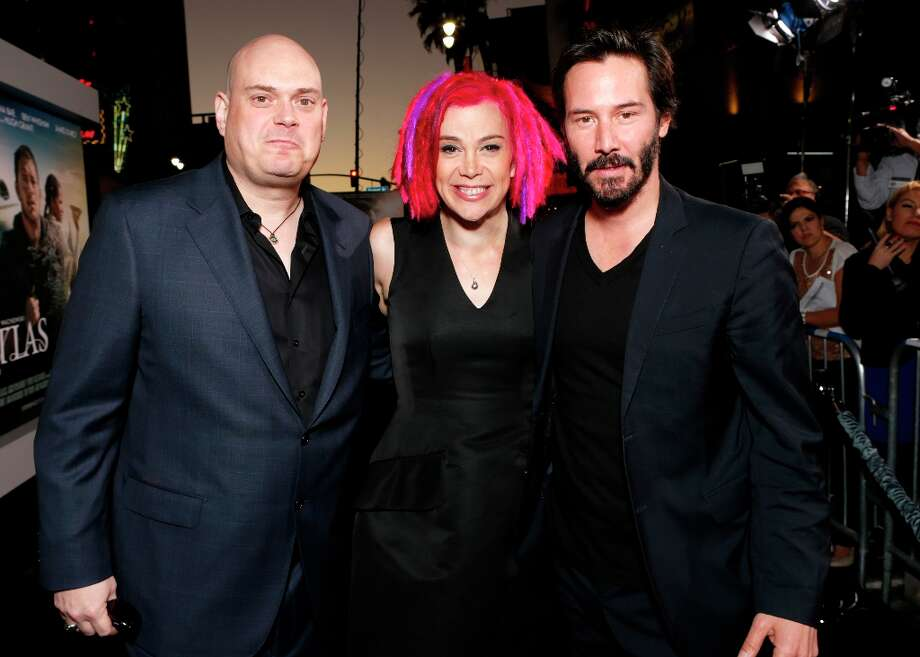 "Andy Wachowski, Lana Wachowski and Keanu Reeves arrive at the Los Angeles premiere of ""Cloud Atlas"" at Grauman's Chinese Theatre on Wednesday, Oct. 24, 2012 in Hollywood, Calif. Photo: Todd Williamson, Associated Press / Invision"