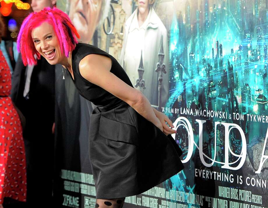 "Lana Wachowski, co-writer and co-director of ""Cloud Atlas,"" poses on the carpet for reporters at the premiere of the film at Grauman's Chinese Theatre on Wednesday, Oct. 24, 2012, in Los Angeles. Photo: Chris Pizzello, Associated Press / Invision"
