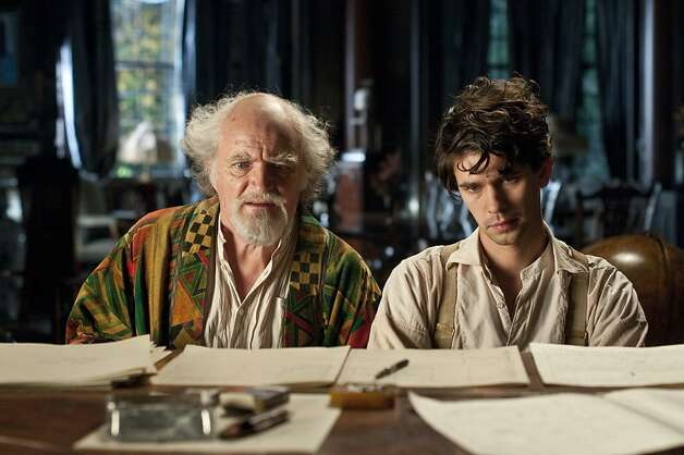"This film image released by Warner Bros. Pictures shows Jim Broadbent, left, and Ben Whislaw in a scene from ""Cloud Atlas,"" an epic spanning centuries and genres. The film is an epic of shifting genres and intersecting souls that features Tom Hanks, Halle Berry, Jim Broadbent, Hugh Grant, Hugo Weaving, Ben Whishaw, Jim Sturgess, James D'Arcy, Doona Bae, Keith David, Sarandon and others in multiple roles spanning the centuries. (AP Photo/Warner Bros. Pictures, Reiner Bajo) Photo: Reiner Bajo, Associated Press"