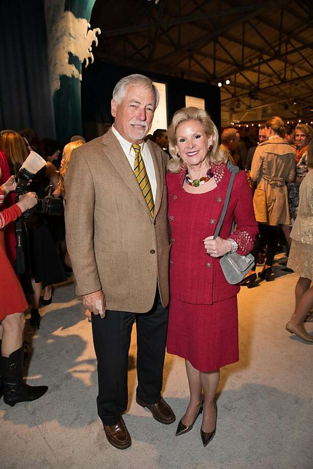 "Cross-pollination was the name of the game at this year's Fall Antiques Show, where Mark Buell, head of the America's Cup Organizing Committee, and philanthropist Dede Wilsey took in the ""Sea Worthy"" theme, with nautical-themed antiques, silver and home wares and lectures on nautical-themed paintings with ships. Photo: Drew Altizer Photography"