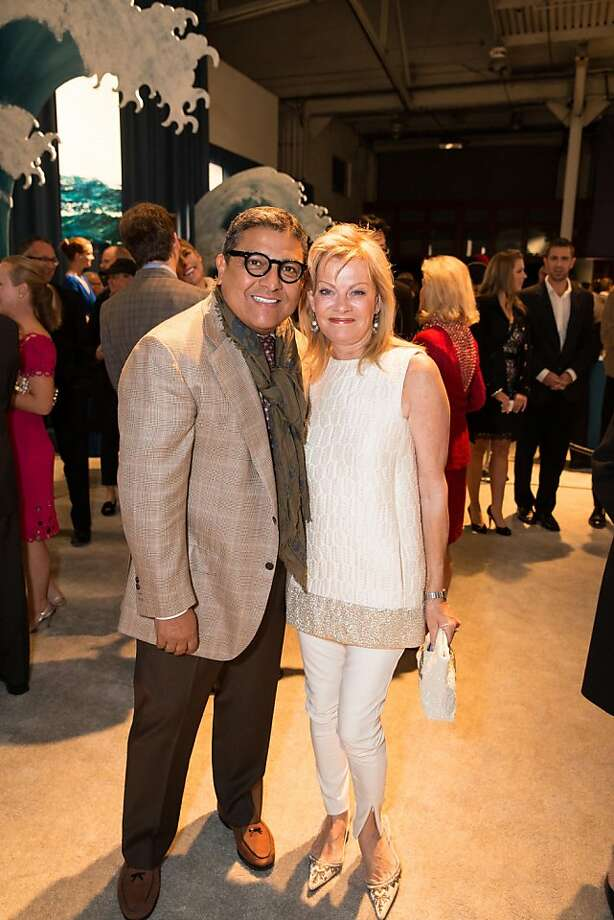 The Fall Antiques Show at Fort Mason is a trove of inspirational ideas, which is why party planner J. Riccardo Benevides attended with friend Alison Carlson. Photo: Drew Altizer Photography