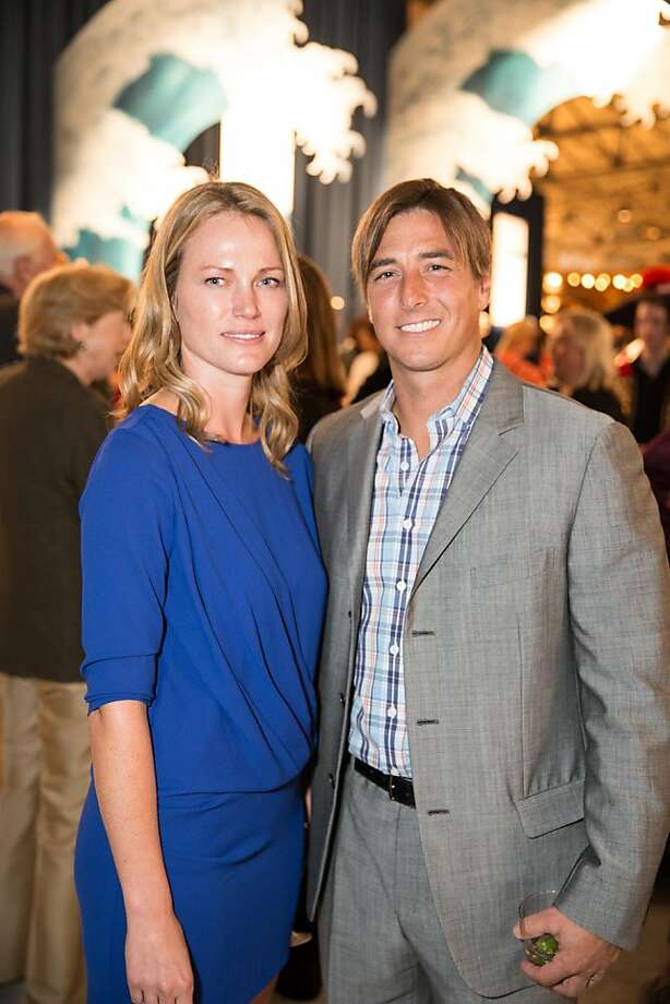 "Water in one form or another attracts Jonny Moseley (at right), the 1998 Olympic gold medal champion in freestyle skiing, and his wife, Malia, to the Fall Antiques Show, where they were honorary chairs for this year's show,  themed ""Sea Worthy"" and featuring antiques with a nautical theme. Photo: Drew Altizer Photography"