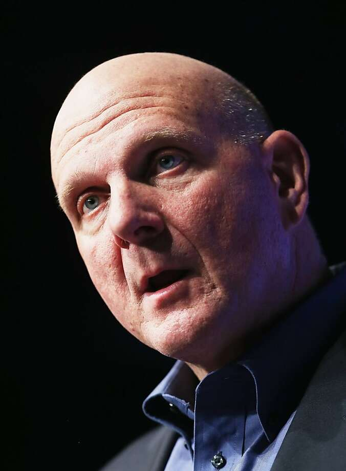 Microsoft CEO Steve Ballmer is optimistic about Windows 8. Photo: Mario Tama, Getty Images