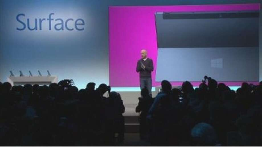 Windows President Steve Sinofsky discusses the new Surface tablet (image: screengrab)