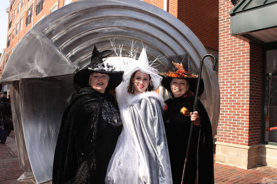 Women in witches costume, Salem, MA (Destination Salem)