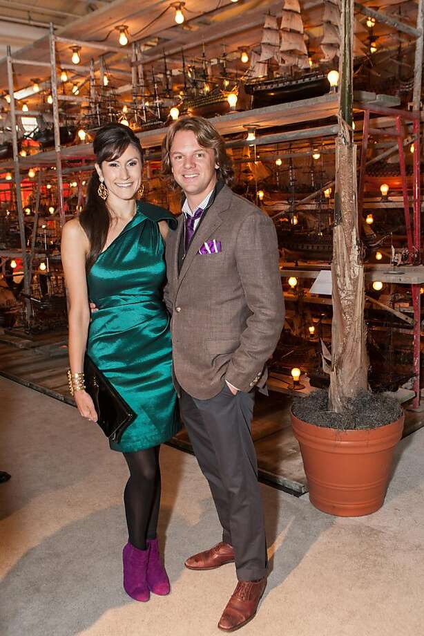 Dressed for success: Samantha Duvall and Darren Bechtel present the picture of unstudied elegance at the Fall Antiques Show at Fort Mason on Oct. 24. Photo: Drew Altizer Photography
