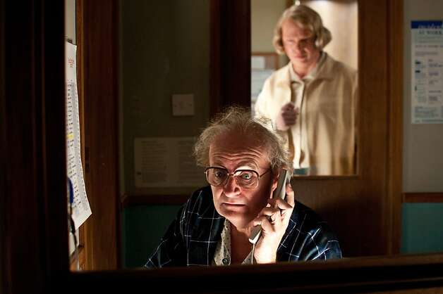 "(L-r) JIM BROADBENT as Timothy Cavendish and HUGO WEAVING as Nurse Noakes in the epic drama ""CLOUD ATLAS,"" Photo: Reiner Bajo"