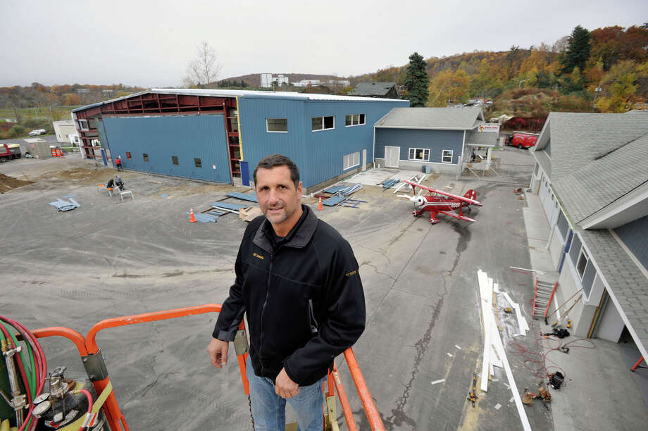 Chris Orifici, owner of Westconn Aviation, wants to build a restaurant with a bar inside one of his hangars at Danbury Municipal Airport. Photographed on Wednesday, Oct. 24, 2012. Photo: Jason Rearick