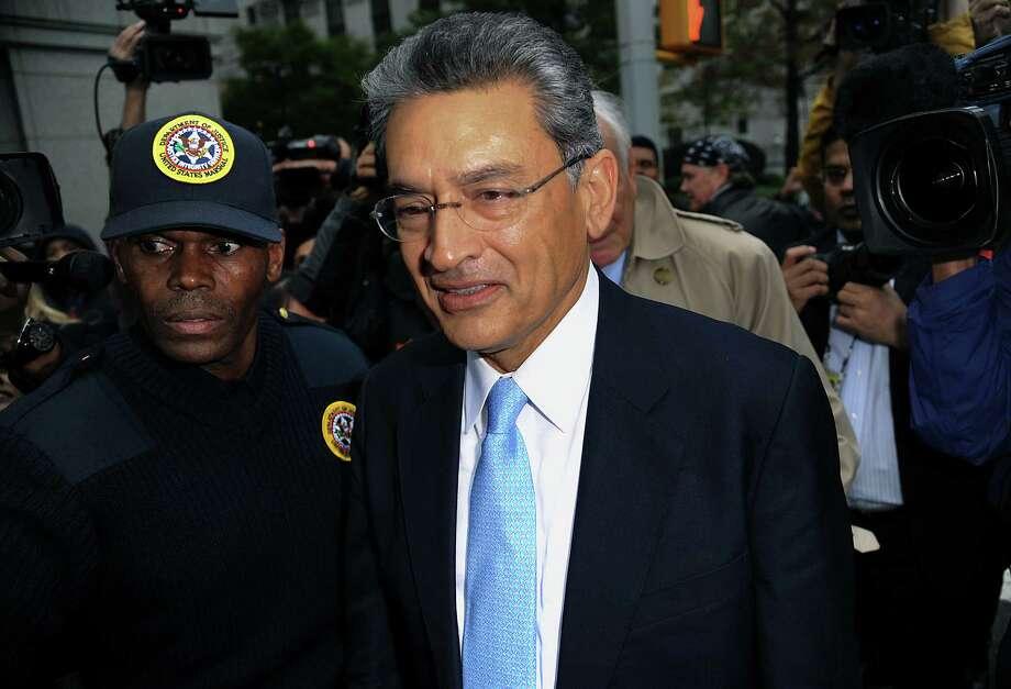 Rajat Gupta, former Goldman Sachs director, leaves court in October after being sentenced. Photo: Peter Foley