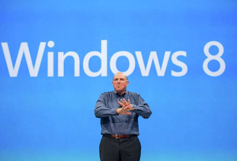 Ballmer comments on the Windows 8 operating system on June 18, 2012. PC makers had hoped the new operating system would pull the industry out of a slump. Instead, consumers have shied away from buying computers with Windows 8, which is a radical departure from earlier Windows versions. Photo: Damian Dovarganes, STF / AP