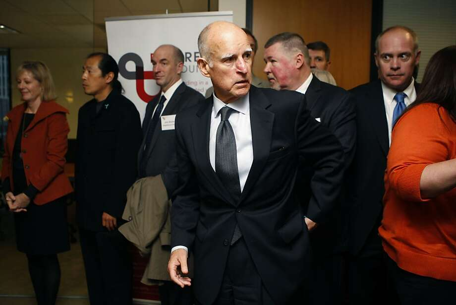 Gov. Jerry Brown has criticized an Arizona group for giving an anonymous donation to efforts opposing his tax measure. Photo: Liz Hafalia, The Chronicle
