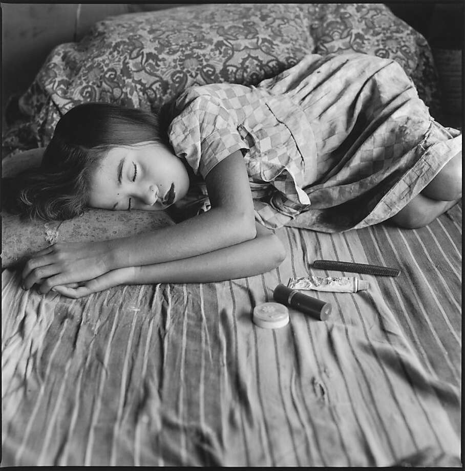 """Acrobat Sleeping, Famous Circus, Calcutta, India"" (1989), vintage platinum print, is from Mary Ellen Mark's ""Indian Circus"" album. Photo: Mary Ellen Mark"