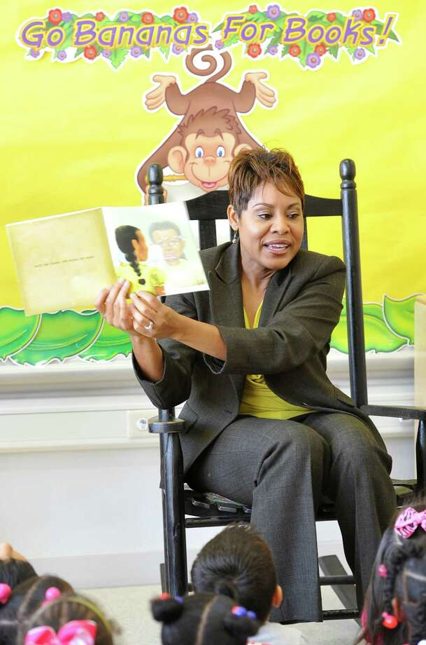 "Longtime Southeast Texas TV news anchor Jackie Simien, released her first children's book, ""Bonjour, Tee Belle, "" in time for Creole Heritage Month (October). The book is a tribute to the culture and Simien's mother, Annabelle Simien Amos.  Bonjour, Tee Belle"" is the first in what the author hopes to be a series of Creole children's books featuring her mother as the heroine of the stories. She was at Bingman Head Start Monday morning reading to the three and four year olds.  Dave Ryan/The Enterprise Photo: Dave Ryan"