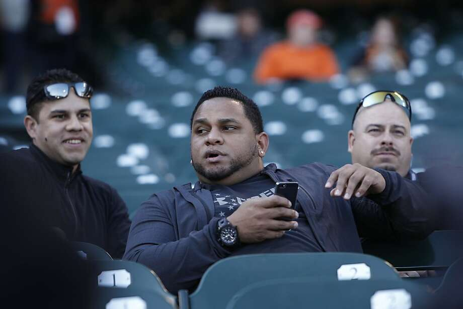 Why is Pablo Sandoval up in the stands? Wait, that's actually his brother Michael. Photo: Michael Macor, The Chronicle