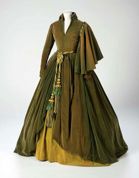 This undated photo shows the green curtain dress Vivien Leigh wore. Photo: Pete Smith, HONS / Harry Ransom Center