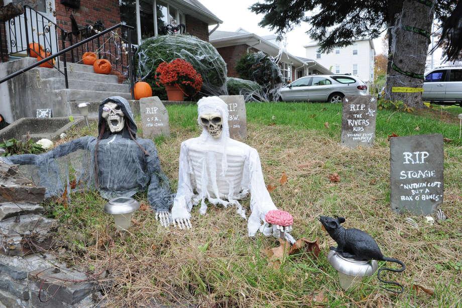 A home decorated for Halloween on Ormond St. on Thursday, Oct. 25, 2012 in Albany, N.Y. (Lori Van Buren / Times Union) Photo: Lori Van Buren