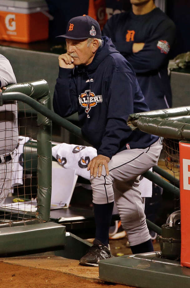 Detroit Tigers manager Jim Leyland watches during the seventh inning of Game 2 of baseball's World Series against the San Francisco Giants Thursday, Oct. 25, 2012, in San Francisco. (AP Photo/Jeff Chiu) Photo: Jeff Chiu, Associated Press / AP