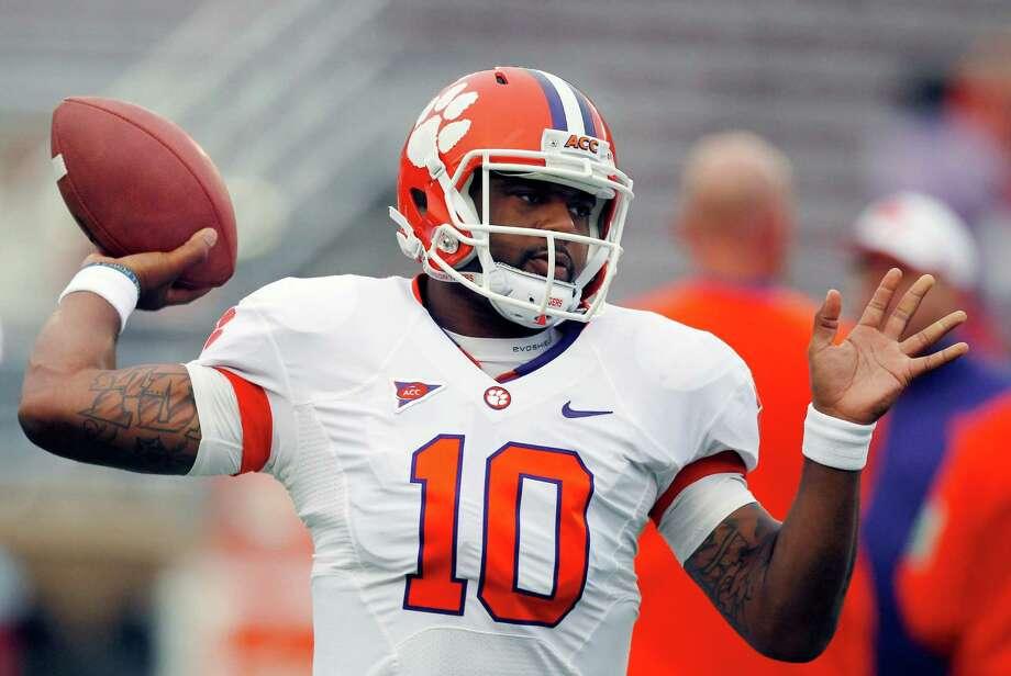 Tajh Boyd Clemson quarterback 15/1 odds Photo: Michael Dwyer, STF / AP