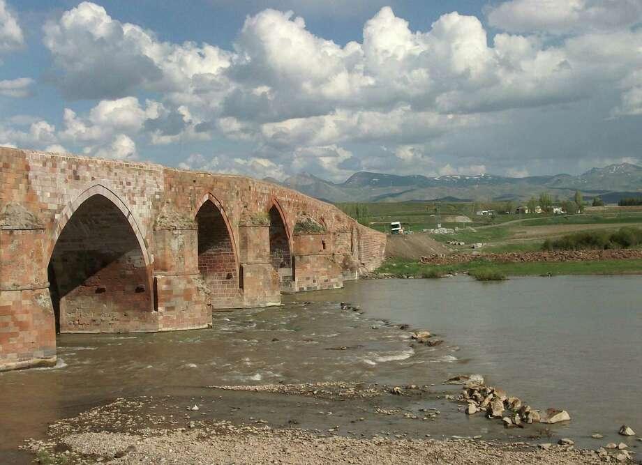 This photo by the Rev. Nicholas Porter, featured in an exhibition at the Pequot Library, shows the Seljuk Bridge on the Anatolian Plateau in Turkey. Photo: Contributed Photo