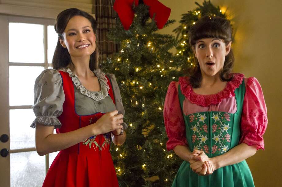 Summer Glau (left) makes a kid's Christmas jolly in new Hallmark movie  (Hallmark Channel )