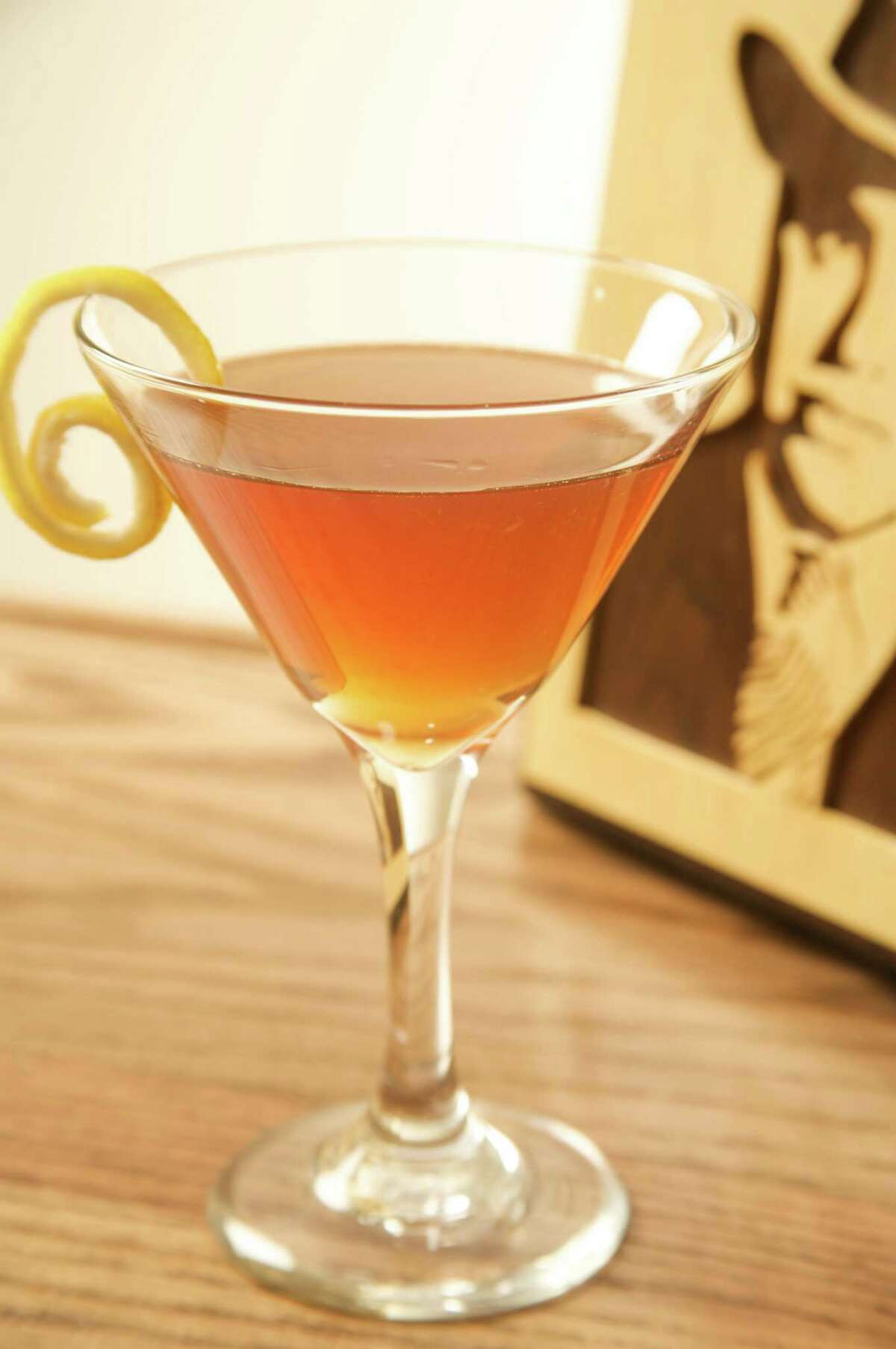 The Capone cocktail made with Templeton Rye whiskey, which is known as Al Capone's whiskey.
