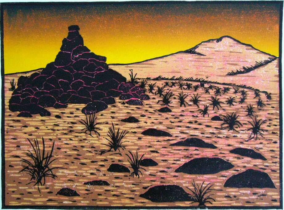 """Cairn"" is a woodcut by Wendell Fuqua, who will be a guest artist during the 2012 Uptown Art Stroll. Photo: Courtesy Wendell Fuqua"