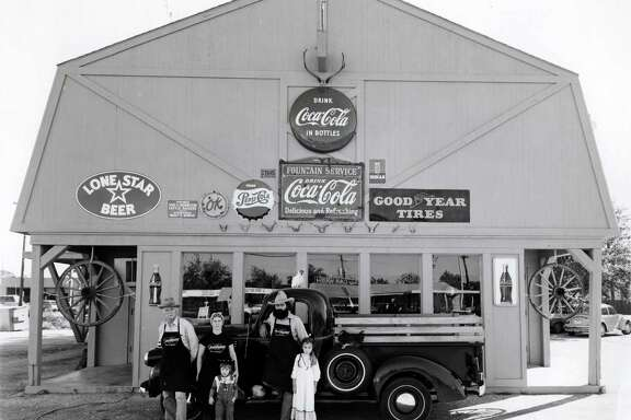 Below, the Goode family, circa 1977: Joe Dixie, from left, Liz Goode, Levi Goode, Jim Goode and Jana Goode. The restaurant was started by Jim and Liz Goode and Jim's uncle, Joe Dixie.