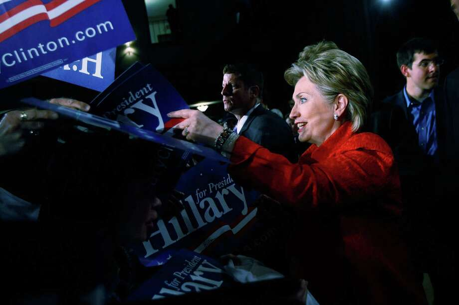Democratic presidential hopeful Sen. Hillary Clinton (D-NY) greets people as she attends a rally at Scranton Cultural Center April 21, 2008 in Scranton, Penn. Photo: Joe Raedle, Getty Images / 2008 Getty Images