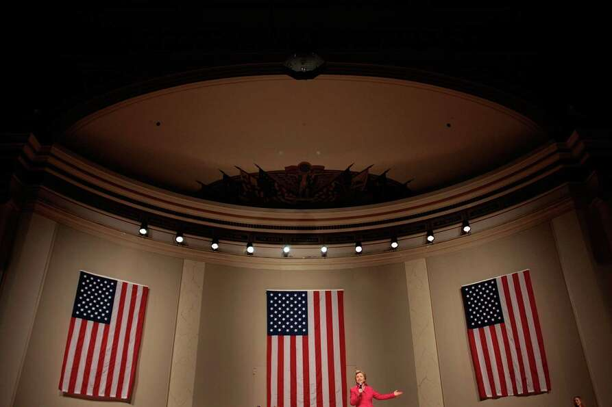 Democratic presidential hopeful Sen. Hillary Rodham Clinton of New York speaks at a fund-raiser at t