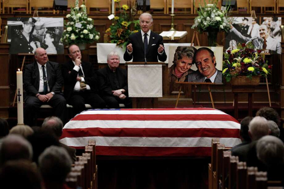 Vice President Joe Biden speaks during a prayer service for former Democratic U.S. senator and three-time presidential candidate George McGovern on Thursday. Photo: M. Spencer Green, Associated Press / AP POOL