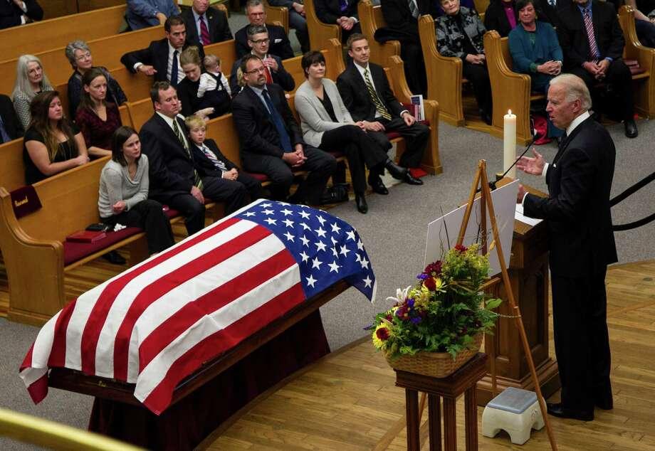 Vice President Joe Biden speaks at the prayer service. Photo: Nati Harnik, Associated Press / AP