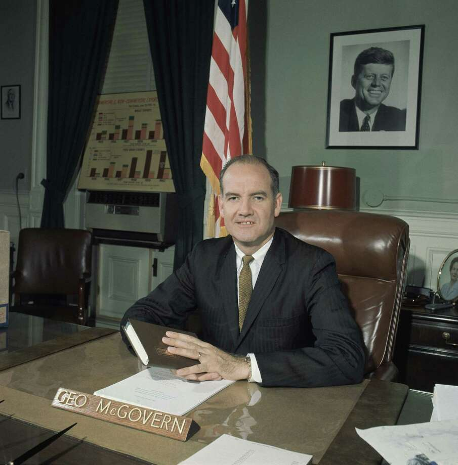 Sen. George McGovern seen Feb. 28, 1961, at his desk in Washington, D.C. Photo: Associated Press / AP