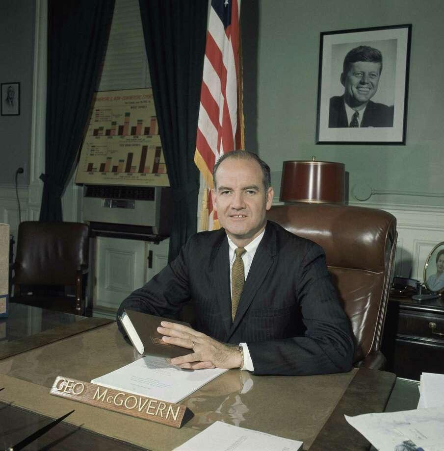 Sen. George McGovern seenFeb. 28, 1961,at his desk in Washington, D.C. Photo: Associated Press / AP