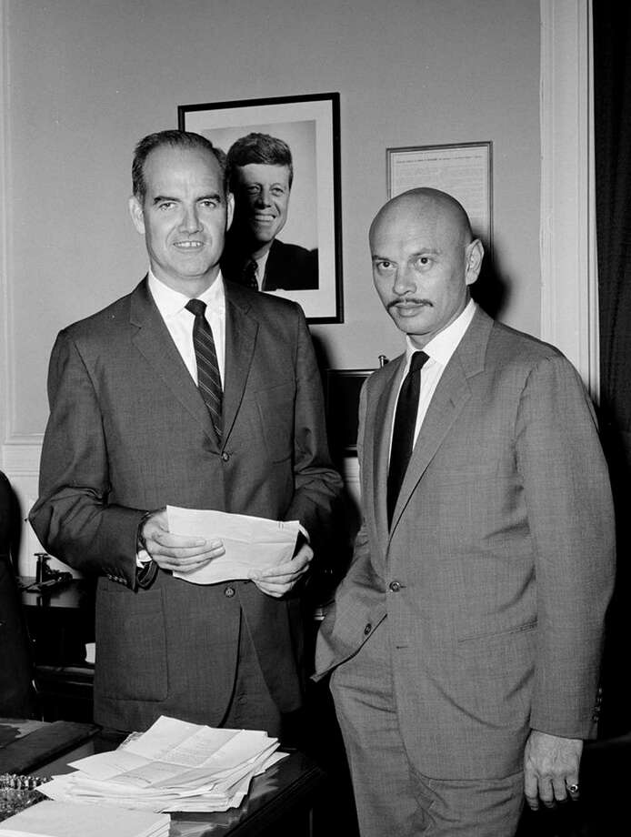 George McGovern is pictured with actor Yul Brynner in 1961. Photo: MCT, McClatchy-Tribune News Service / ARCHIVE