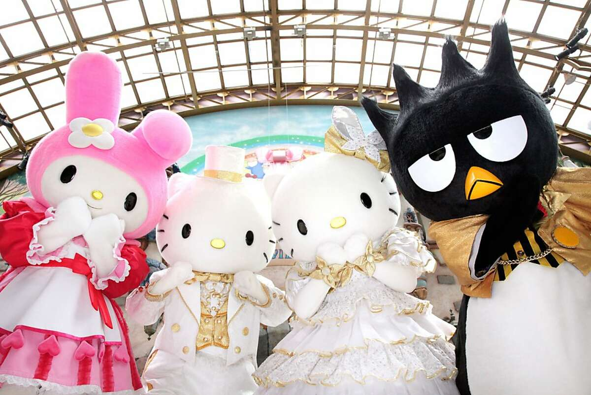 Malaysia's Sanrio Hello Kitty Town, the first such theme park outside of Japan, includes many versions of the mouthless felines and fellow characters such as Bad Batz Maru.