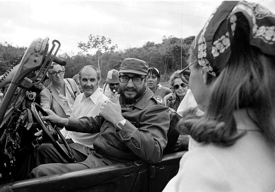 Sen. George McGovern goes for a jeep ride with Cuban Premier Fidel Castro on May 8, 1975, during the senator's visit to Cuba. Photo: Charles Tasnadi, Associated Press / AP