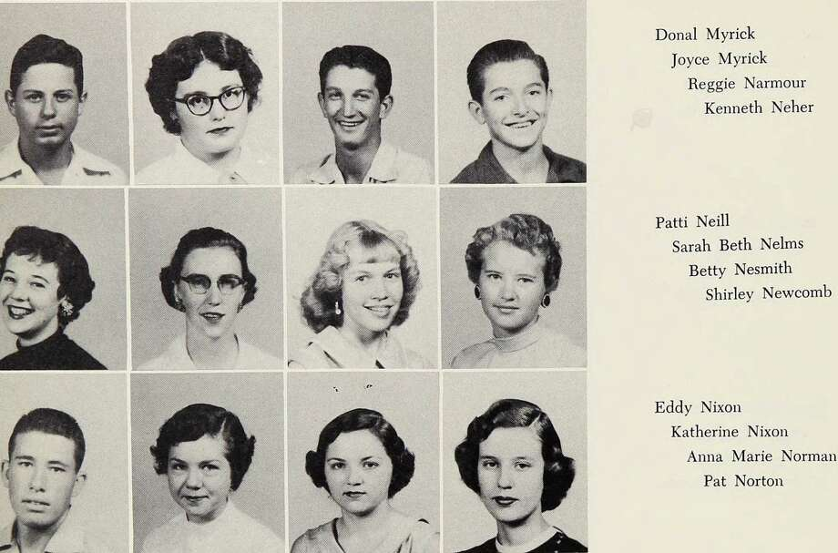 Bette Nesmith: Lubbock High School, 1955 Photo: Ancestry.com