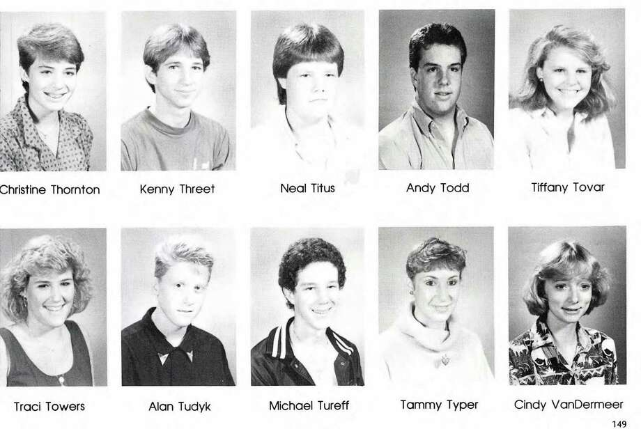 Alan Tudyk: Vines High School, Plano TX, 1987 Photo: Ancestry.com