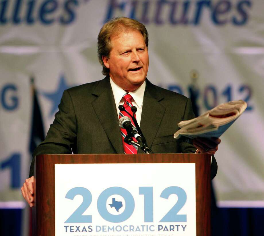 U.S. Senate Candidate Paul Sadler speaks during the the 2012 Texas Democratic Party State Convention at the George R. Brown Convention Center Friday, June 8, 2012, in Houston. Photo: James Nielsen, Chronicle / © Houston Chronicle 2012