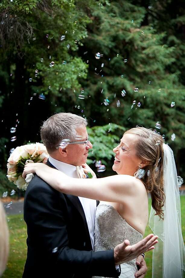 Kristina Skierka and Donn Tice eloped on Thursday October 11 at the Family Farm, a private estate in Woodside which is the same location where they first met. Photo: JK Life Stories, Www.jklifestories.com
