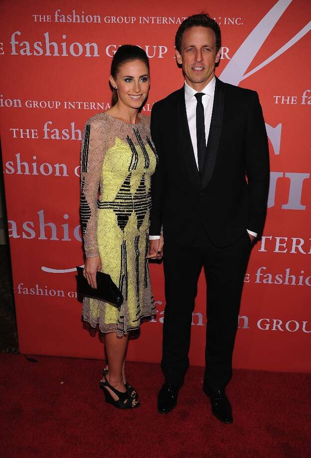 Seth Myers and guest attend the 29th Annual Fashion Group International Night Of Stars at Cipriani Wall Street on October 25, 2012 in New York City.  (Photo by Dimitrios Kambouris/Getty Images) Photo: Dimitrios Kambouris, Getty Images / 2012 Getty Images